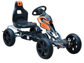 Aosom Kids Pedal Powered Ride On Go Kart Racer with Hand Brake   Orange  Retail 147 49 As is