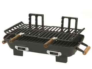 Kay Home Products 30052 10 inch x 18 inch Cast Iron Hibachi