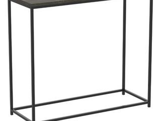 Console Table 31l Dark Grey Wood Black Metal   31  x 12  x 28
