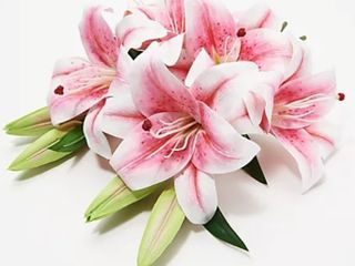 Faux Floral Casablanca lily Bouquet by Peony