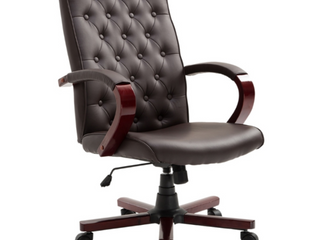 orch   Den Purdin leather  Wooden High Back Executive Home Office Chair   178 99