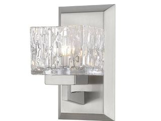 Z lite 1927 1S BN Rubicon 1 light Wall Sconce  Brushed Nickel   8 75 x 4 75 x 5 25 in    set of 2