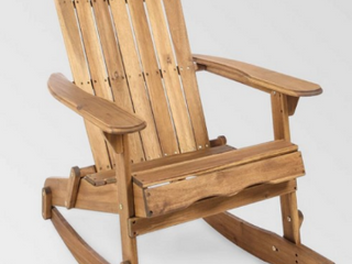 Malibu Outdoor Adirondack Rocking Chair by Christopher Knight Home  Retail 161 99