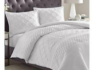 Mosaic Comforter And Sham Set King White   Stone Cottage