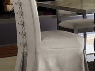 Muses Upholstered Parsons Chairs with cover  Set of 2    Retail 309 99
