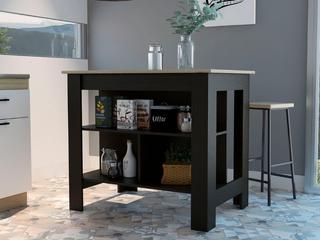 Carson Carrington Vannasberget Kitchen Island   Espresso Natural  Retail  239 99