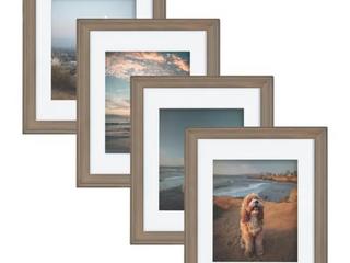 Kate and laurel Bordeaux Wood Photo Frame Set of 4  Retail  39 99