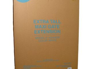 Carlson Extra Tall Maxi Dog Gate Extension   White