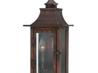 Alico lighting 8302CP Acclaim lighting Copper Patina Finished Outdoor Sconce with Clear Flat Glass Shades