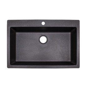 Franke DIG62D91 GRA 33  X 22  Primo Granite Graphite 1 Hole Double Bowl Kitchen Sink  Retail  319 99