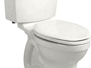 Champion 4 HET Tall Height 2 piece 1 28 GPF Single Flush High Efficiency Round Toilet in White