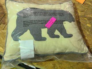 Bear Throw Pillow Gray  16X20    Eddie Bauer