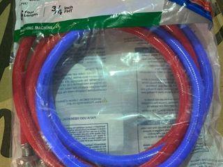 EASTMAN 2 Pack 6 ft 800 PSI PVC Washing Machine Connectors