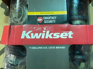 Kwikset Juno Venetian Bronze Smartkey Keyed Entry Door Knob Double Cylinder Deadbolt Combo Pack MISSING DEADBOlT FOR lOCK