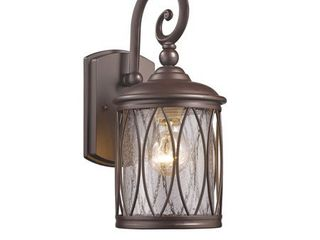 Chloe Transitional 1 light Rubbed Bronze Outdoor Wall lantern
