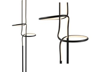 Black  Sketch 64  Metal Integrated lED Floor lamp  by JONATHANY