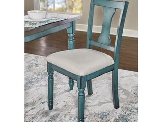 Willow Side Chair  Set of 2    Teal   Powell
