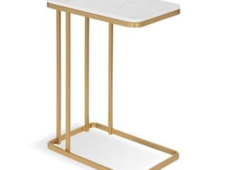 Kate and laurel Credele Modern Glam C Table with Gold Metal Base