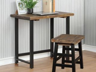Carbon loft lawrence Metal and Solid Wood Desk