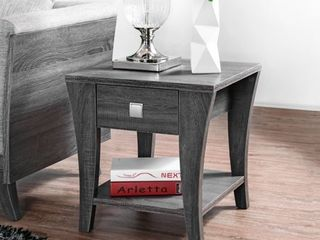 Gray  Furniture of America Werc Contemporary Grey End Table