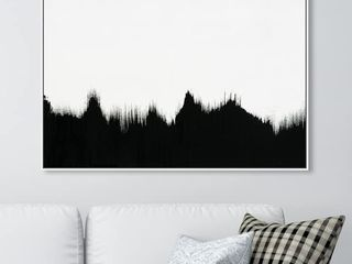 30 x 45  Oliver Gal Abstract Wall Art Canvas Prints  All Sight  Paint   Black  White