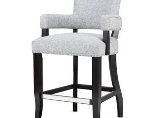 Madison Park Parler Grey Arm 26 inch Counter Stool   22 5 w x 24 5 d x 40 25 h