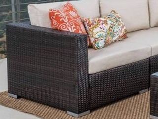 Grey Silver Grey  Santa Rosa Outdoor 1piece Wicker Seating with Cushions by Christopher Knight Home