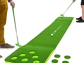 2 on 2 Pong Style Play with 11 2019 Putting Green  2 Putters and 2 Golf Balls Green