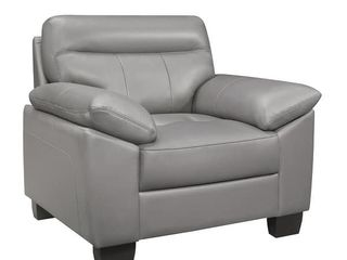 Grey  Brun leather Chair