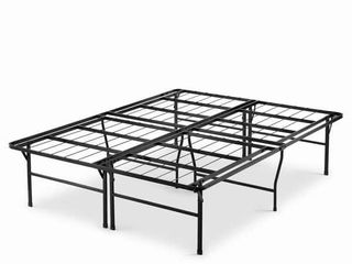Black Queen Priage by Zinus 18 inch High Profile SmartBase Black Platform Bed Frame  Queen