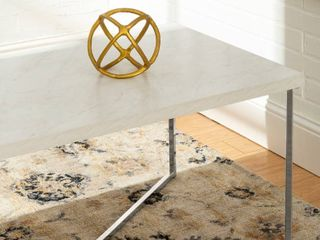 Gold   White Faux Marble