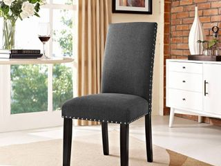 Porch   Den Felix Upholstered Grey and Beige Dining Chair