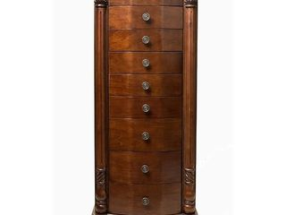 Hives and Honey  Florence  Walnut finished Wood Jewelry Armoire