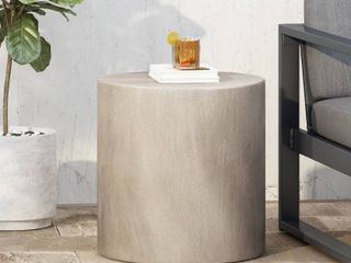 light Gray  Bryleigh light Weight Concrete Side Table by Christopher Knight Home  Retail 75 48