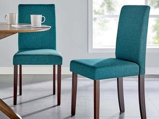 Teal  Copper Grove Piskent Upholstered Armless Side Chairs  Set of 2
