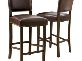 Set of 2   Brown   Bar Height   29 32 in  Retail 199 99