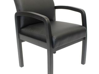 Black  Boss NTR  No Tools Required  Guest Chair