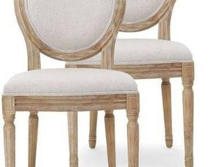 Phinnaeus French Country Fabric Dining Chairs