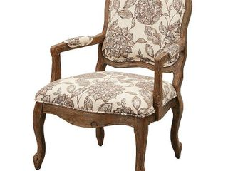 Madison Park Charlotte Camel Back Exposed Wood Chair