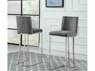 Dark Grey Best Quality Furniture Bar Stools with Gold Base