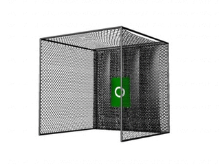 Cimarron Sports 10x10x10 Masters Golf Net with Frame Kit  long poles are missing for the frame