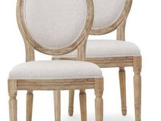 Phinnaeus French Country Fabric Dining Chairs  Set of 2  by Christopher Knight Home  Retail 542 99