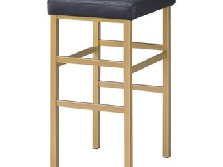 Black  Porch   Den Moscato Gold 30 inch Backless Stool
