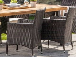 Tustin Outdoor 2 piece Acacia Wicker chair Set by Christopher Knight Home  chair only