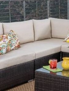 Grey Silver Grey  Santa Rosa Outdoor 1 piece Wicker chair only Sectional Set with Cushions by Christopher Knight Home