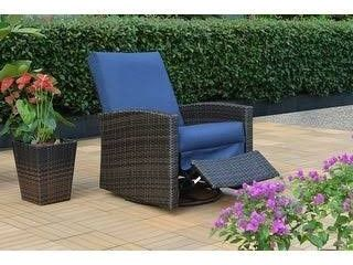 Oceanside Swivel Recliner with Sunbrella Cushions  Retail 665 49