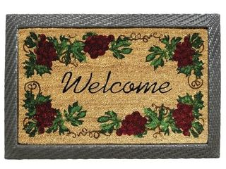 All Weather Wicker Tray Mat Frame  coir doormat not included