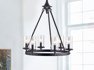 Elbrus 6 light Candle Style wheel Chandelier  Retail 142 99