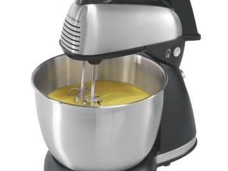 Hamilton Beach   6 Speed Classic Hand Stand Mixer   Silver