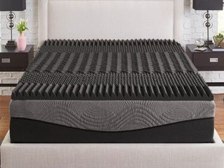King  Slumber Solutions Active 2 5 inch 5 Zone Charcoal Memory Foam Topper  Retail 88 74